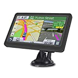 Sat Nav GPS Navigator for Truck, 7 Inch HD Touch Display Car Lorry GPS Vehicle Navigation System with Motorhome Includes Postcodes, Speed Camera Alerts & POI Lane Assist (Map Free Update Lifetime)