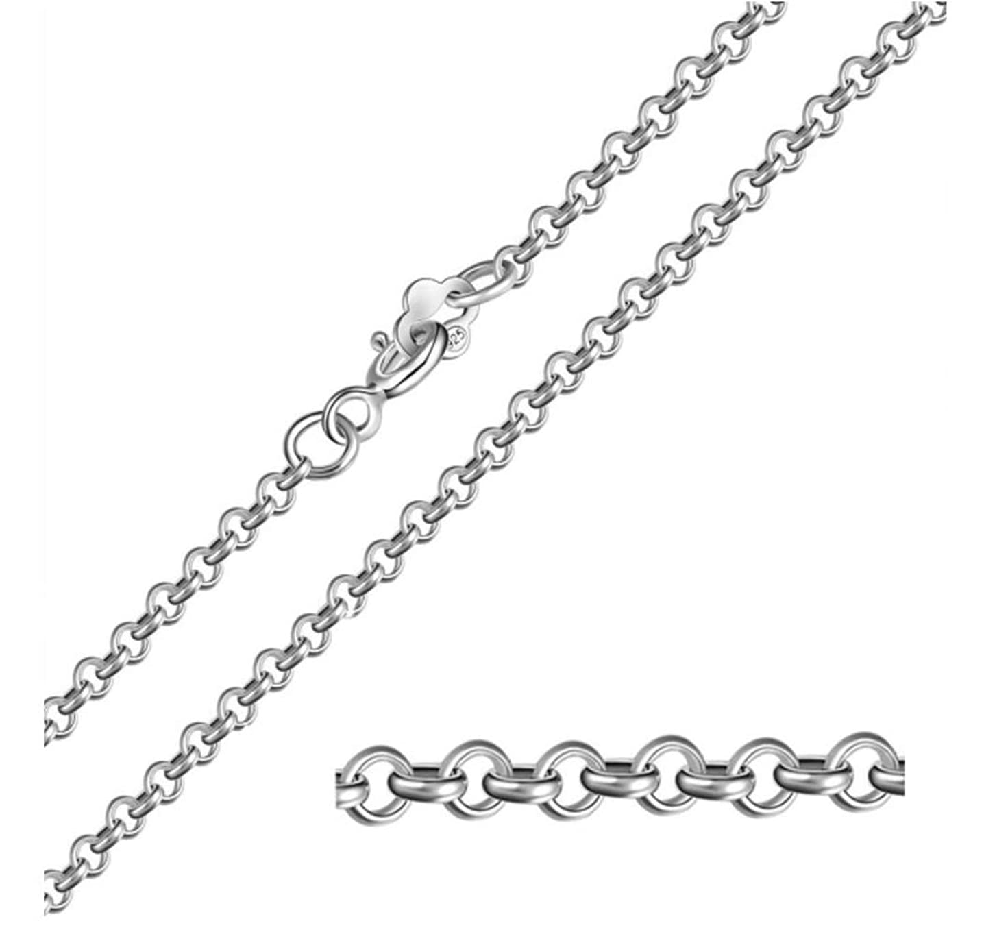 5pcs Top Quality 18 inch Sterling Silver Belcher Cable Chain Chain (1.5mm Width) for Women Men Girls Jewelry Making ss208