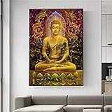 ganlanshu Pintura sin Marco Estatua de Buda Meditación Estatua Pintura sobre Lienzo Decoración Budista Moderna Cartel Decoración del hogar Arte de la Pared ZGQ4981 30X45cm