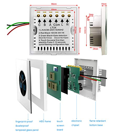 Wireless Garage Door Opener Remote WiFi Switch Universal Controlled by Smartphone for Automatic Gate...