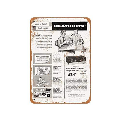 43LenaJon 1958 Bouw een Heathkit versterker Vintage look metalen bord