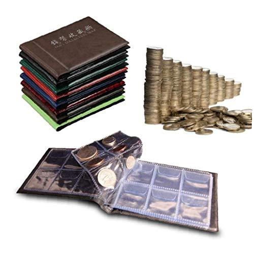 Beito 60 Slots Trendy Münzalbum Münzportemonnaie Geld Penny-Taschen-Speicher Sammeln Buch Album für Münzen Jetons Abzeichen Medaille Halter