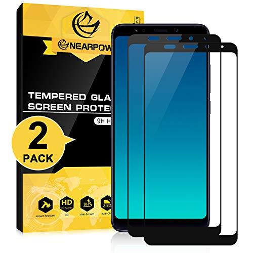 NEARPOW [2 Pack] Mica Protector de Pantalla para Xiaomi Redmi 5 Plus Vidrio Cristal Templado [Negro]
