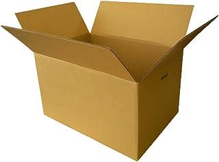ボックスバンク ダンボール 引っ越し 段ボール箱 140サイズ(取っ手穴付) 5枚セット【53×38×高さ33cm】FD04-0005-g