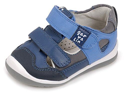 Garvalín Baby Jungen 172333 Lauflernschuhe, Blau (Jeans/Electric Blue/Sauvage A), 18 EU