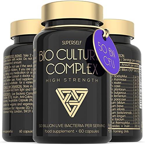 Probiotic Supplement 50 Billion CFU - Probiotics Bio Cultures Complex for...