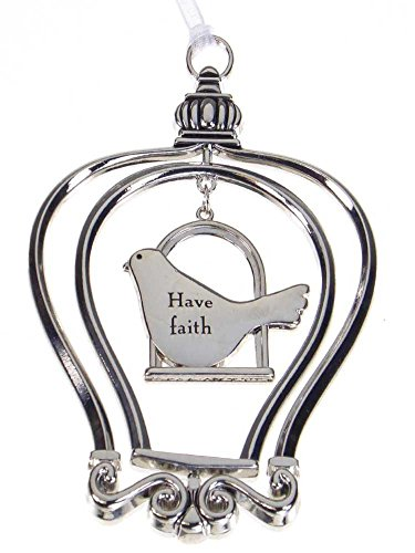 Have Faith - Birdcage Ornament by Ganz