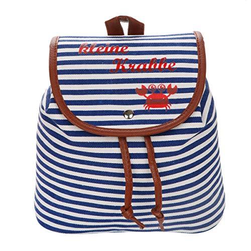 Sonia Originelli XS Rucksack kleine Krabbe Streifen Maritim Daypack Farbe Blau-Rot