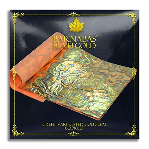Barnabas Schattiertes Blattgold - Grün, 14 X 14cm, 25 Blätter in Blattsammlung