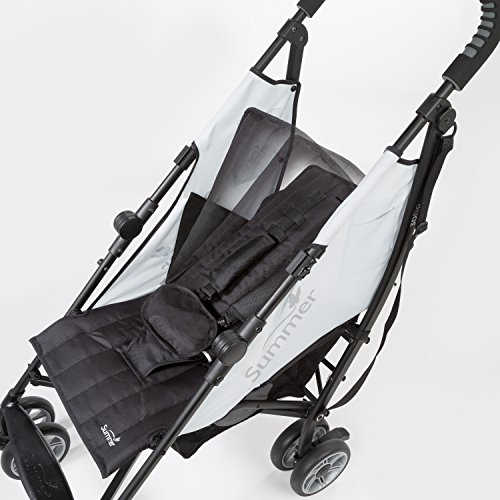 Image of Summer 3Dflip Convenience Stroller, Black/Gray – Lightweight Umbrella Stroller with Reversible Seat Design for Rear and Forward Facing, Compact Fold, Adjustable Oversized Canopy and More