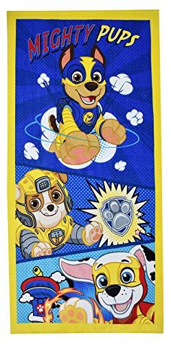 Character Linens - Toallas de baño para niñas y niños, diseño de patrulla canina, color azul