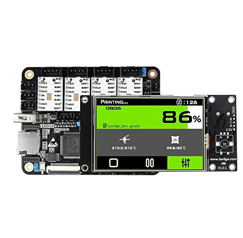 SongMyao Led Makeup Mirror Reprap 3D Printer Integrated Controller Board Mainboard With 32-bit Coretx-M4 Core Control Unit + 3.5inch LCD Touch Screen + 4PCS White TMC2100 Stepper Motor Driver