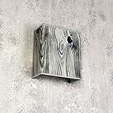 Moderna lámpara de pared de tela, pantalla de imitación de madera, E27, cuadrada, diseño de pared, salón, pasillo