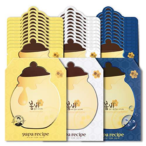 Papa Recipe Bombee Anti-Aging Sheet Mask Trio, Korean Sheet Mask Rich Moisturizing Mask, AMAZON EXCLUSIVE, 30 Sheets