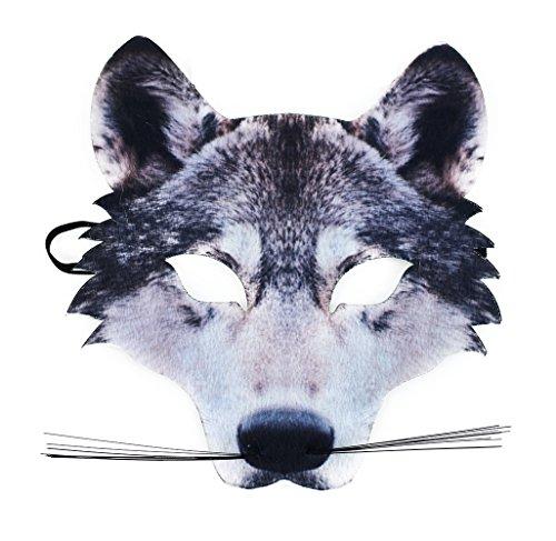Rappa 160026 Lebensechte Tiermaske Wolfmaske Karnevalsmaske Wolf