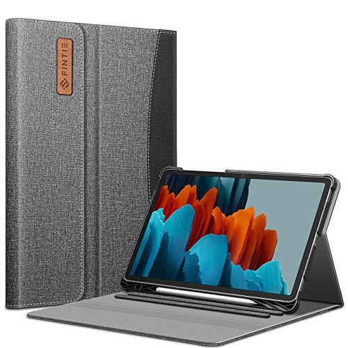 Fintie Funda para Samsung Galaxy Tab S7 11' 2020 (SM-T870/T875) - Portafolio Carcasa de Ángulos Múltiples [Admite Carga Inalámbrica S Pen] con Bolsillo Auto-Reposo/Activación, Gris
