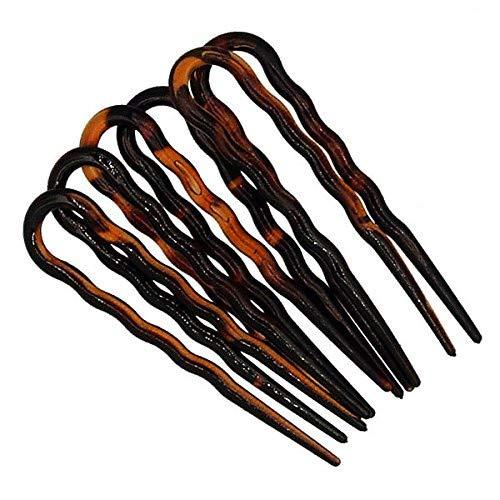 298-003 - Set 6 pezzi forcine per capelli ondulate cm 7 made in Italy - Mollette forcine...