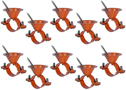 HIGHCRAFT ICF-DQ12-10 Bell Hanger Copper Coated Steel for 1/2'' Pipe (10PK), 10 Pack