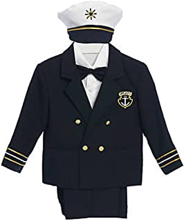 Classykidzshop 5点Navy Boy Captain Suit Set