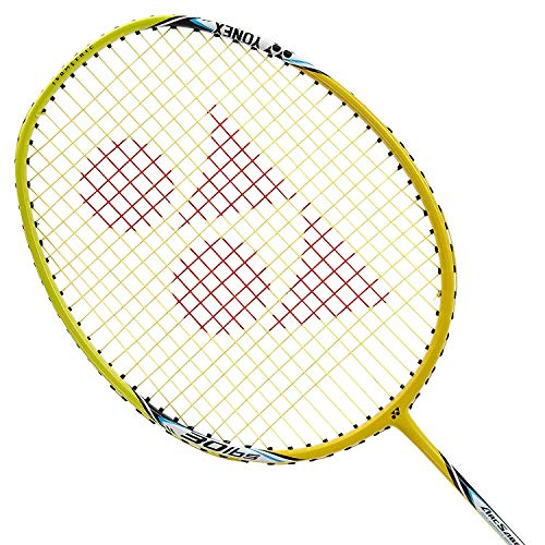 Yonex Badminton Racket ARC Saber Series 2018/19 with Full Cover Professional Graphite Carbon Shaft Light Weight Competition Racquet High Tension Fast Speed Performance (ASL10i - Yellow)