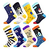 Bonangel Fun Socks ,Funny Socks for Men Novelty Crazy Crew Dress Socks ,Cool Cute Food Graphic Animal Socks