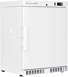 K2 Scientific - Under-Counter or Freestanding Solid Door Refrigerator for Lab Equipment - Medical-Grade Storage - 2 Shelves - 4 Cu. Ft.
