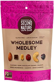 Second Nature Wholesome Medley Trail Mix - Healthy Nuts Snacks Blend - 14 oz Resealable Pouch