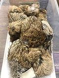 Whitman Rabbit Fur Squeaker Flat Rat (Brown)