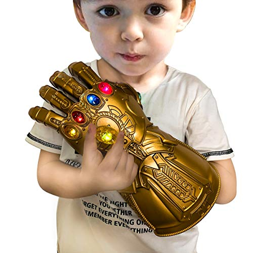 LED Glowing Infinity Thanos Gauntlet Avengers Thanos Infinity Gauntlet Cosplay con eliminación Glowing Stone Kids Infinity cosplay Glove