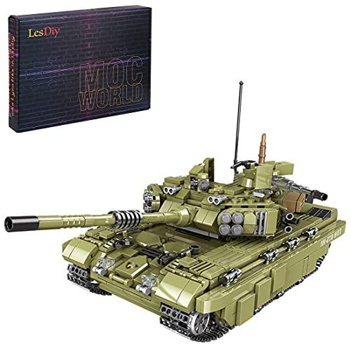 Wolfbush Tank Building Blocks Toy, 1386Pcs DIY Military Emperor Tank Building Block Toy Compatible with Main Building Block Brands - - Scorpio Tiger Tank