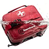 SURVIVEWARE Waterproof Premium Large First Aid Kit for Cars, Boats, Trucks, Hurricanes, Tropical Storms and Outdoor Emergencies, 200 Pieces