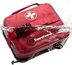 Surviveware Large Waterproof First Aid Kit for Kayak, Boating, Backpacking, Snow and Water Sports