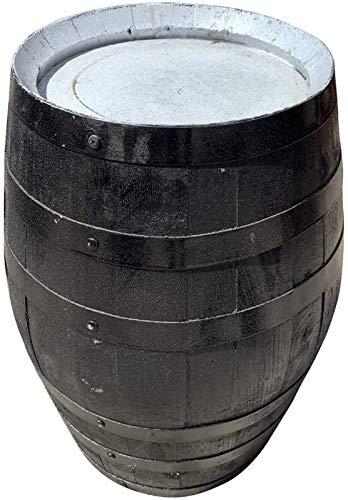 Cheeky Chicks Authentieke massief eikenhouten kleine whisky-tafeltafel - zwart en wit