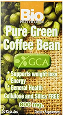 Bio Nutrition Pure Green Coffee Bean, 50 Capsules from BIONUTRITI