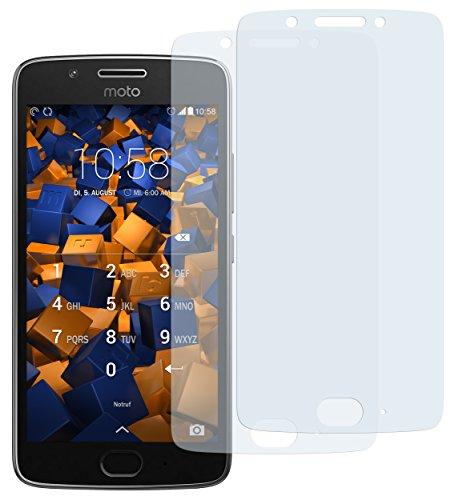 mumbi Schutzfolie kompatibel mit Lenovo Moto G5 Folie klar, Displayschutzfolie (2X)