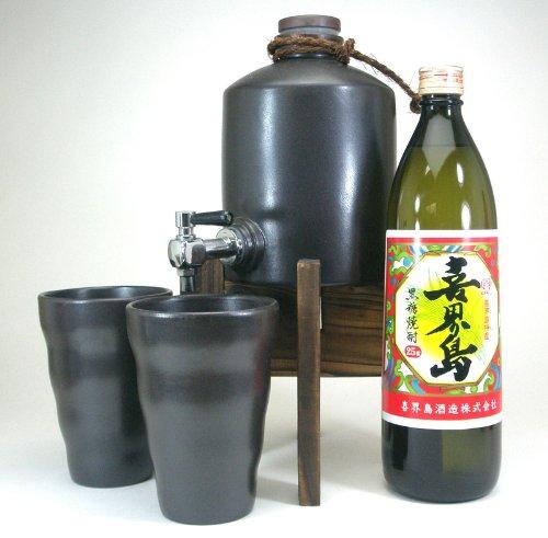 焼酎サーバー豪華セット(黒糖焼酎 喜界島900ml)A5焼酎ギフト!
