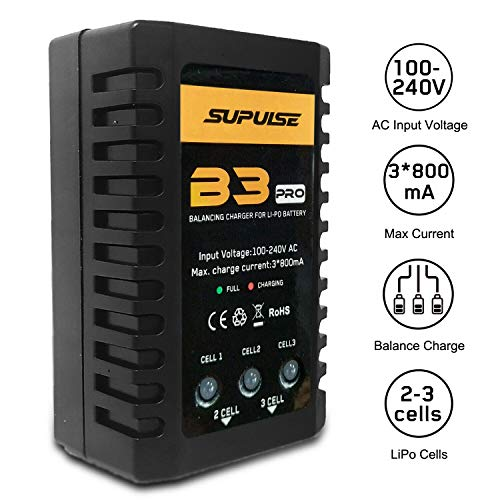 LiPo Battery Charger B3AC 2S-3S RC Balance Charger 7.4-11.1V Pro Compact Charger