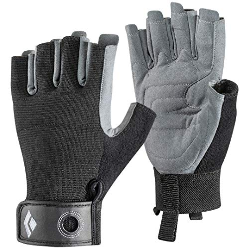 Black Diamond Crag Half Finger Gloves - Guantes de Escalada, Via Ferrata y Entrenamiento