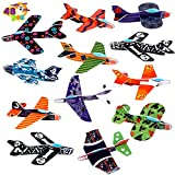 JOYIN 48 Pcs Halloween Foam Glider Planes, Flying Airplane Gliders Toys for Halloween Party Giveaways ,12 Different Airplane Designs,Trick or Treats, Party Favor and Supplies for Kids