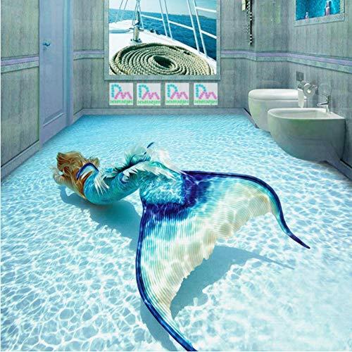 Makeyong 3D Meerjungfrau Tapete Ozean Foto Tapete Benutzerdefinierte Wandbild Kind Schlafzimmer Hotel Tv Hintergrund Tapete Unterwasserwelt Raumdekor-140X100cm