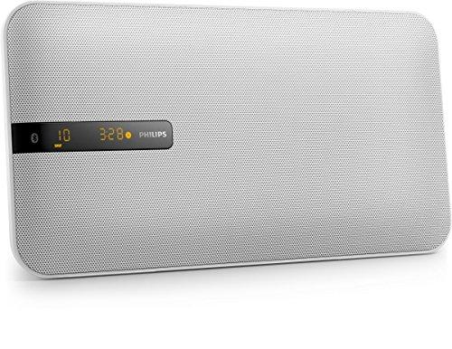 Philips BTM2660W 12 - Microcadena Plana, Bluetooth, CD, USB, Radio FM, Blanco