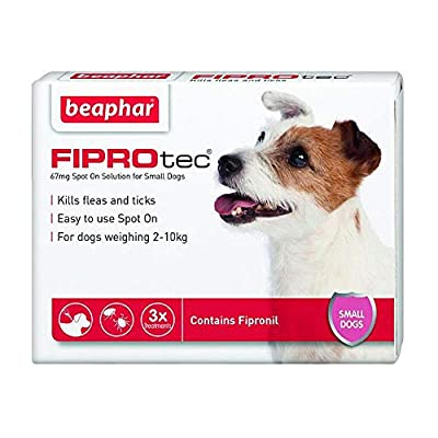 Beaphar FIPROtec® Kill Flea Ticks Spot On Drop Treatment Protection for Small Medium Large XL Dogs Puppies & Cats by Beaphar® FIPROtec®