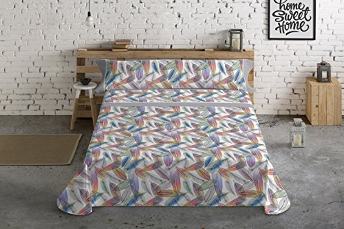 Lois dakota juego de sábanas 4 piezas, 50% algodo 50% poliester, gris cama 150x190/200