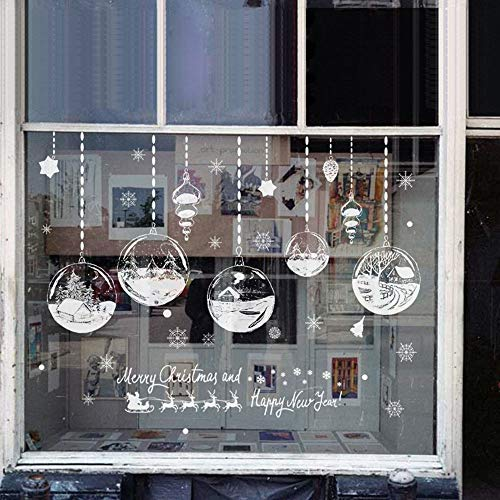 CAPOOK -2PCS / LOT Christmas Decoration Sticker Glass storefront Window Stickers Glass Wall Stickers Clothing Store Festive (Color : B, Size : 6090cm)