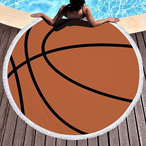 Toalla de playa grande redondo microfibra toalla de playa playa manta Toalla Mantel de picnic pared colgantes Yoga Alfombras 150cm Basketball