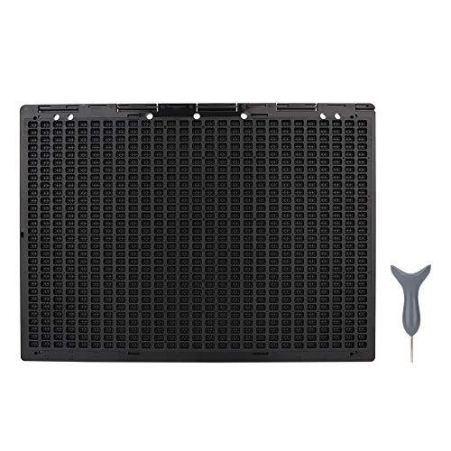 GAESHOW, portátil, 27 líneas, 30 Celdas, Pizarra de Escritura Braille y Accesorio de Herramienta de Aprendizaje de lápiz óptico para Uso prolongado