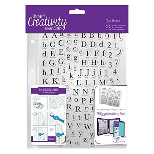 Kreativität Essentials Alphas Traditionelle Stempel Set, transparent, A5, 129-piece