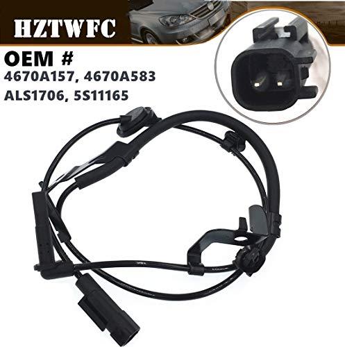 HZTWFC Nouveau capteur de vitesse de roue ABS arrière gauche OEM # 4670A157 4670A583 ALS1706 5S11165 pour Mitsubishi Outlander Lancer