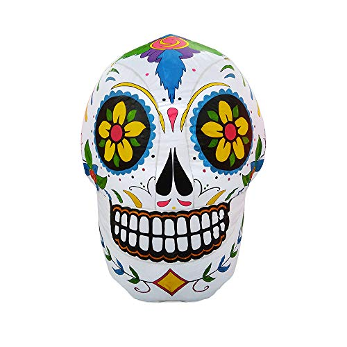 ProductWorks 4-Foot Spooky Town Day of The Dead Sugar Skull Yard Art D