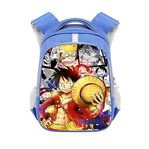 Lexue Anime Game Backpack,Kid School Ruckpack,Travel Backpack,School Bag,3D Print(Animal/Games/Anime/Celebrity) Blue 15